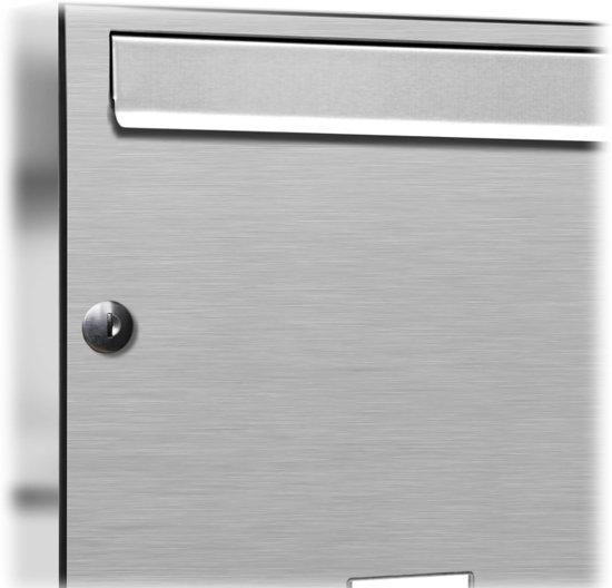 16 personen brievenbus adressen RVS inbouw
