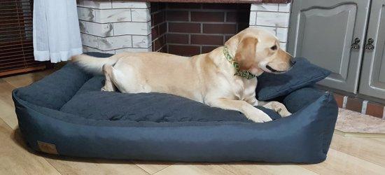 XXL Hondenbed van kunstleer - hondenkussen hondensofa kattenbed hondenkorf - waterdicht - ZWART