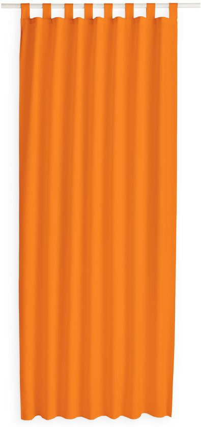 today kant en klaar gordijn met lus oranje 140cm x 260cm