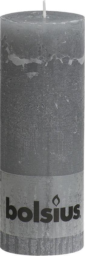 Bolsius Stompkaars Stompkaars 190/68 rustiek Lichtgrijs (per 6 stuks)