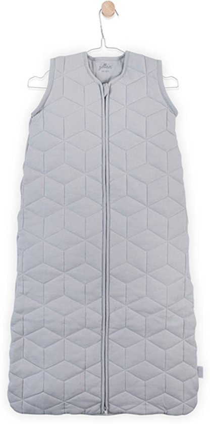 Jollein Graphic quilt Padded Babyslaapzak met afritsbare mouw 110cm - grijs