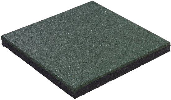Groen Tegels Outlet : Bol rubber tegel groen mm cm