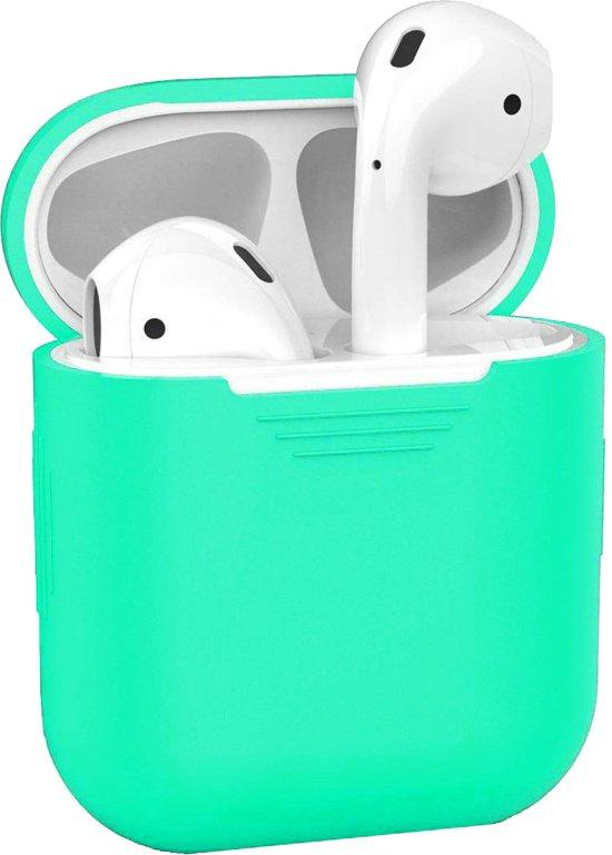Siliconen Bescherm Hoesje Cover Hoes voor Apple AirPods Case Mintgroen