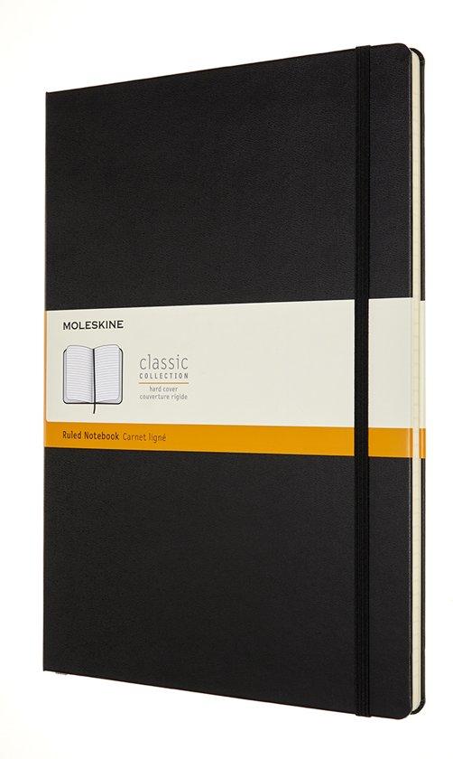 Moleskine-Notitieboek-A4-Gelinieerd-Zwart-Harde Kaft
