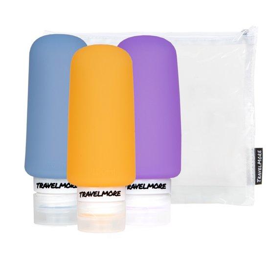 Navulbare Silicone Reisflesjes – Ideale Reisflacons voor Handbagage & Travel - 3 stuks - 100ml per Flacon