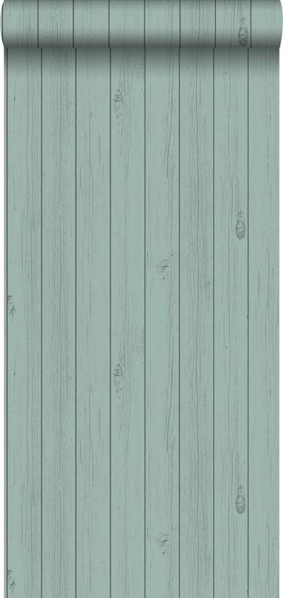 Ongebruikt bol.com | krijtverf vliesbehang smalle houten sloophout planken RG-38