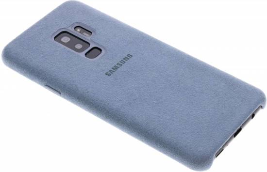 Samsung Alcantara cover leer - munt - voor Samsung Galaxy S9 Plus