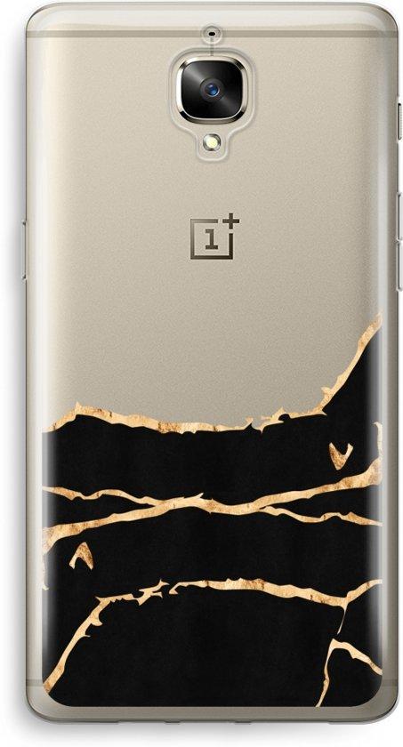 OnePlus 3 Transparant Hoesje (Soft) - Gouden marmer