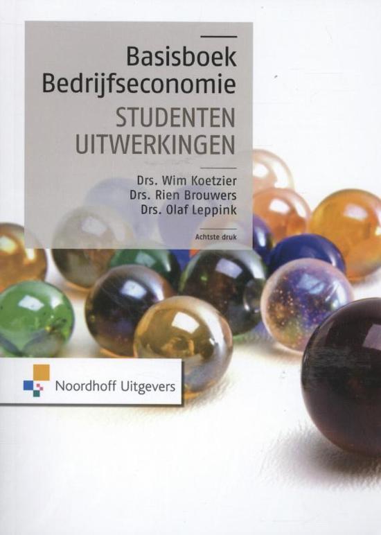 Basisboek bedrijfseconomie - studentenuitwerkingen