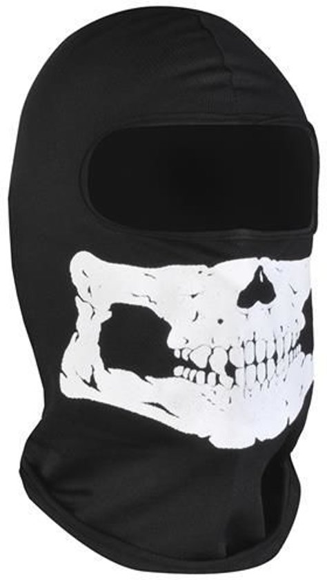 Bivakmuts Ski Muts Skull Muts met schedel print