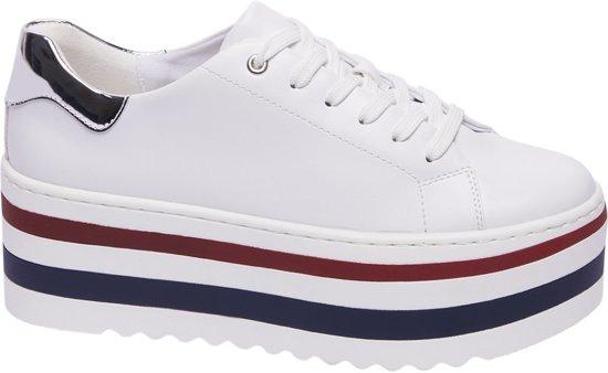 | Graceland Dames Witte sneaker plateauzool Maat 37