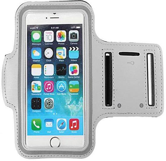 Sport Armband voor iPhone hardlopen Spatwatervrij, Reflecterend / Neopreen / Comfortabel / Verstelbaar / Koptelefoon / Aansluitruimte en Sleutelhouder - grijs 1