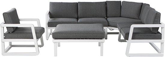 garden impressions roma 5 delig lounge dining set wit grijs. Black Bedroom Furniture Sets. Home Design Ideas