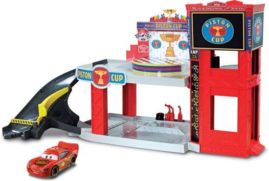 Disney Cars Race de Piston Race Garage - Speelset