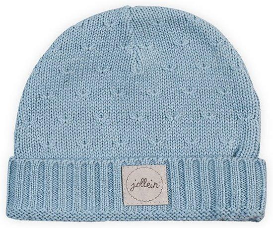 Muts 9 tot 18 mnd Soft knit soft blue