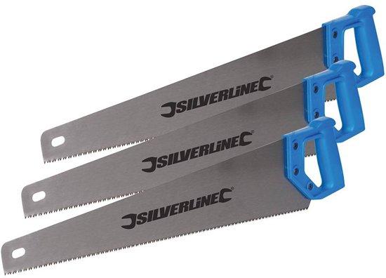 Silverline Handzaag, 3 pk. 3 x 550 mm, 7 tpi