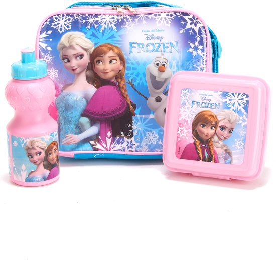 Plastic Frozen™ lunch set - Feestdecoratievoorwerp - One size