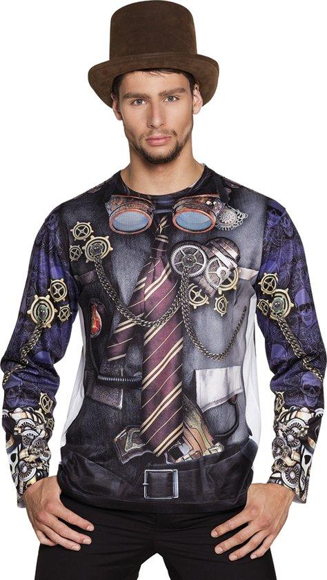 3 stuks: Fotorealistisch shirt - Mr Steampunk - Large