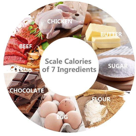 Aigostar Calorie 33LDF - Digitale Keukenweegschaal - Melkglas