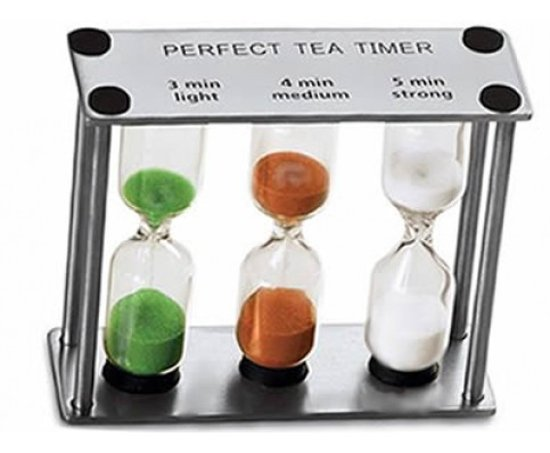Perfect Tea Zandloper voor de perfecte thee - 3, 4 en 5 minuten