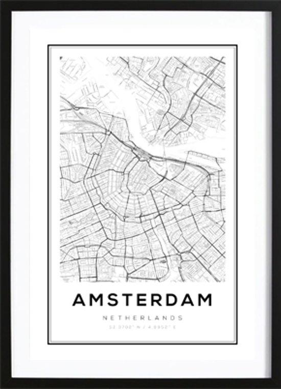 Genoeg bol.com | Amsterdam Kaart Poster - Wallified - Poster - Wall Art @OU76
