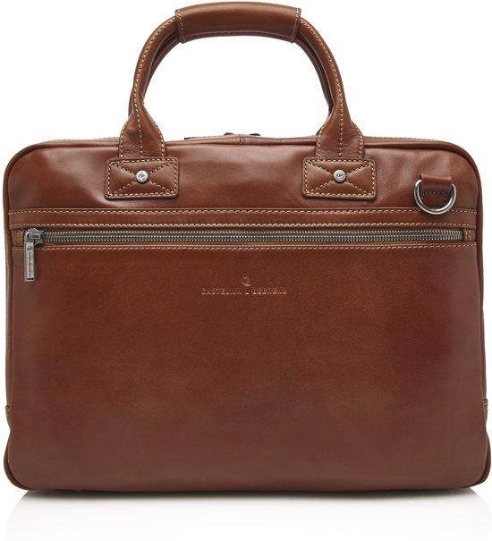 3a79a189801 Castelijn & Beerens Firenze Business Laptop tas 15,6'' Licht Bruin   60