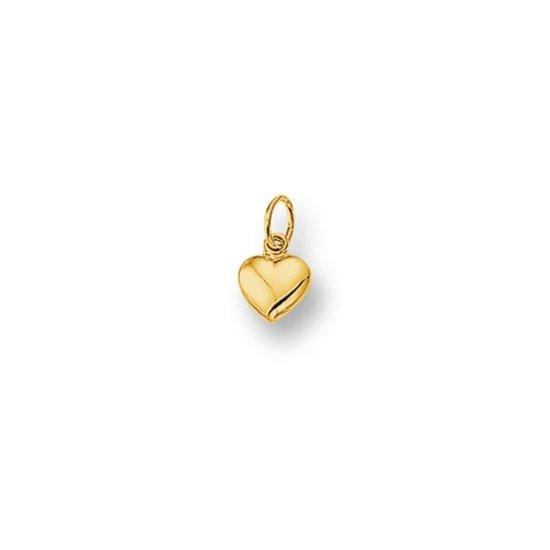 The Jewelry Collection Hanger Hart - Dames - Goud 14 Karaat - 5 x 5,5 mm