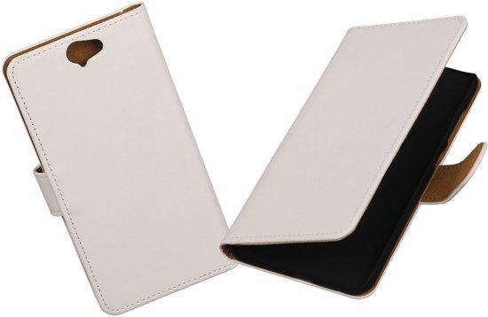 MiniPrijzen - Samsung Galaxy J3 - Wit Booktype Wallet Hoes Telefoonhoesje - Smartphone hoesje in Loosdorp