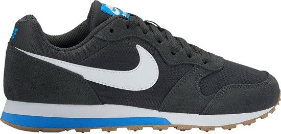 Nike MD Runner 2 (GS) Sneakers Junior Sportschoenen - Maat 38.5 - Unisex - antraciet/wit/blauw