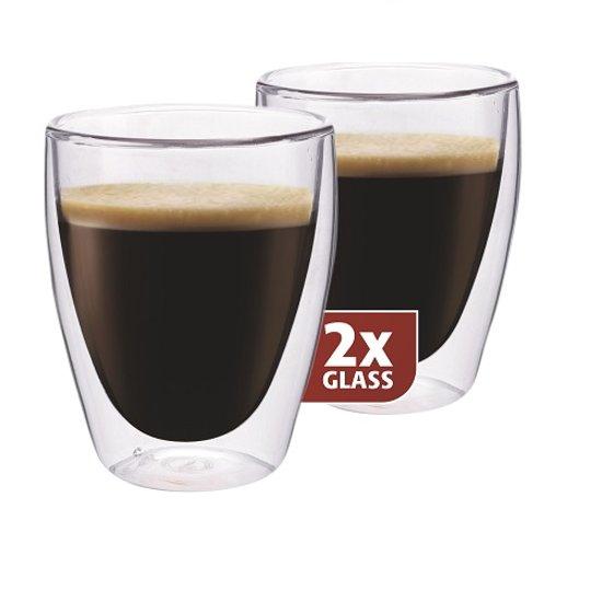 Koffieglazen Dubbelwandig, set van 2 - Maxxo