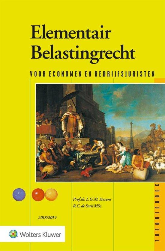 Elementair Belastingrecht 2018/2019 Theorieboek - Wolters Kluwer Nederland B.V.