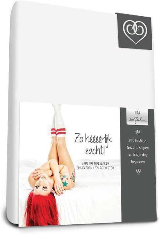 Badstof stretch hoeslaken  Wit - 180 x 220 cm - Wit