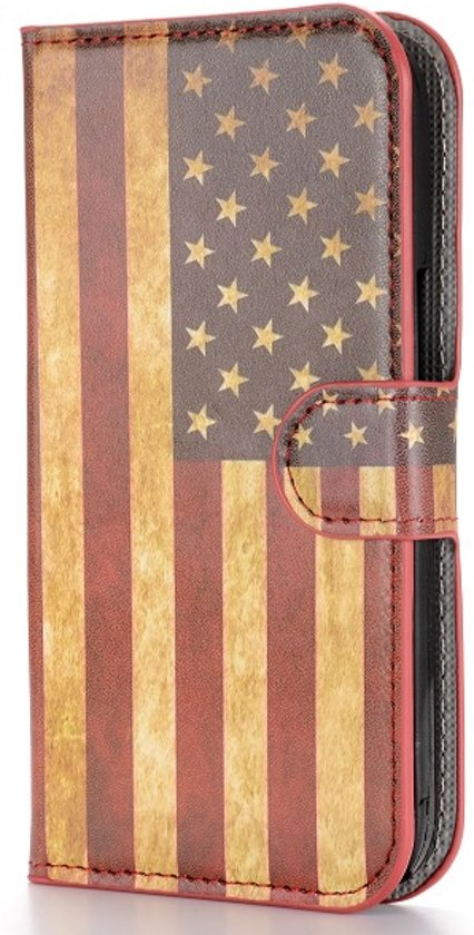 Casify - Amerikaanse Vlag Wallet Case Hoes - Alcatel One Touch Pop C9 in Everbeek