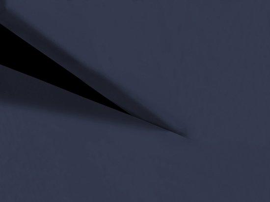 HnL Living - Hoeslaken - Splittopper - Katoen Perkal - 200 x 210 cm - Donkerblauw