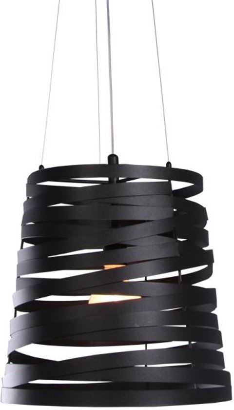 City of Glass Modern - Hanglamp - D30 cm - Zwart