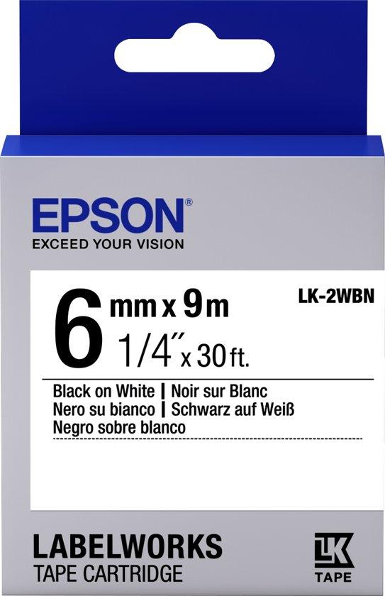 Epson Standard Tape - LK-2WBN Std Blk/Wht 6/9