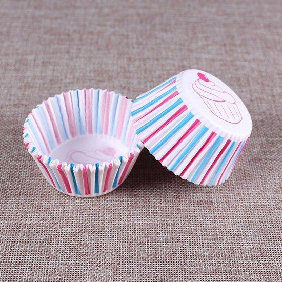 200x Cupcake papier met leuk patroon