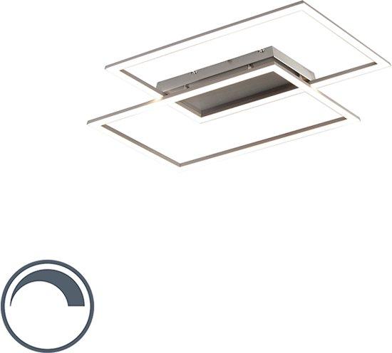 Paul Neuhaus plazas 2 - Plafondlamp - 2 lichts - L 545 mm - Staal