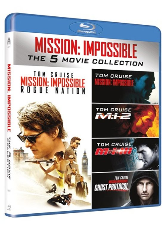 DVD cover van Mission Impossible - The 5 Movie Collection (Blu-ray)