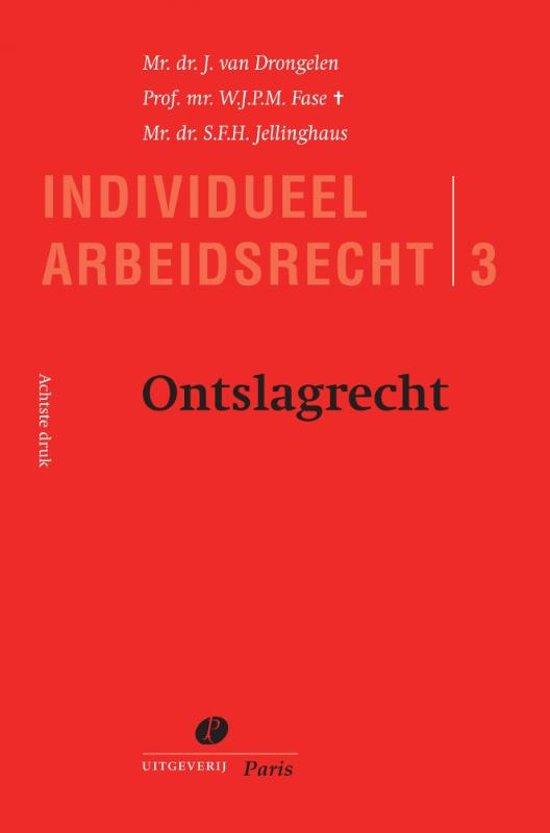 Boek cover Serie Individueel Arbeidsrecht 3 - Ontslagrecht van J. van Drongelen (Onbekend)