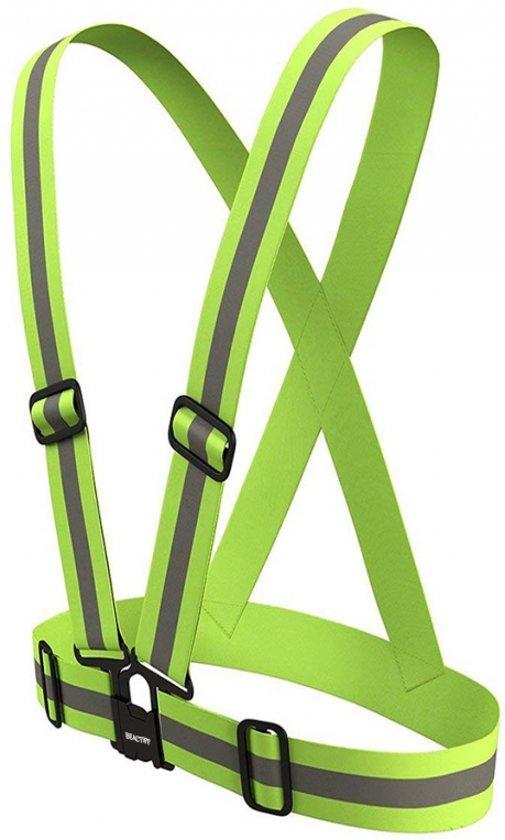 Veiligheidsriem / Veiligheidshesje / Verkeersvest  | S, M tot XL verstelbaar reflecterend | Unisex , Band Cross Belt Vest - Elastische Kruisgordel Fietsen Hardlopen Sporten