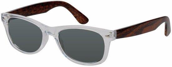 3ab1ff1384bd7d Houtlook Clubmaster heren zonnebril donker model 7112