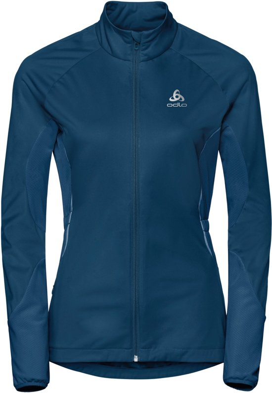 Odlo Jacket Zeroweight Windproof Warm Hardloopjas Dames - Poseidon