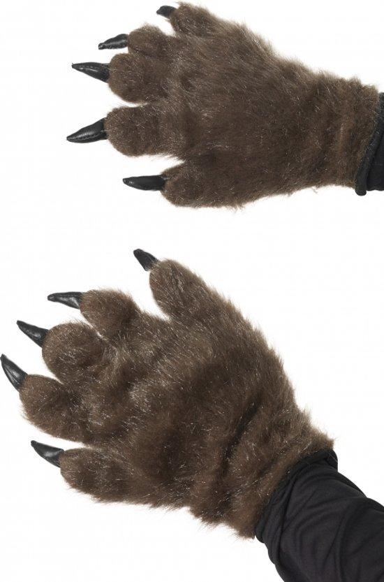 Halloween Harige dierenpoot handschoenen