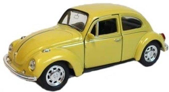 Speelgoed volkswagen kever gele auto 12 cm fun for Gele lampen auto