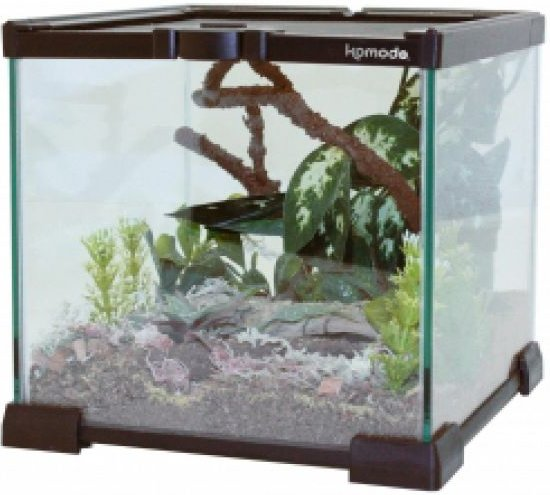 Komodo Nano Habitat Glazen Terrarium - 21X21X20 CM