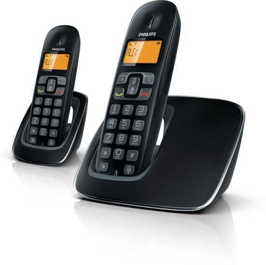 Philips CD1902B - Duo DECT telefoon - Zwart
