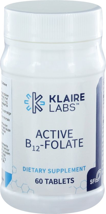 Klaire Labs Active B12- Folaat 60 tabletten