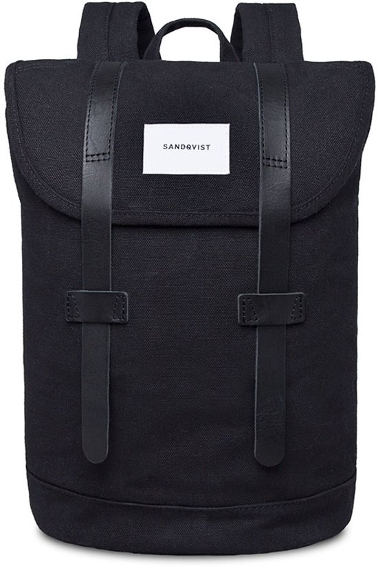 Sandqvist Stig Small Backpack Black black n0w8XNOPk