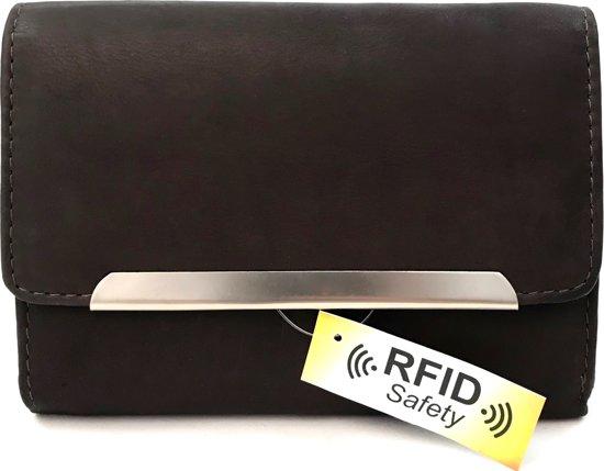 206dc572887 Tillberg - Luxe leren portemonnee dames RFID anti skim - hoge kwaliteit  leer |Bruin